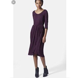 Topshop | Purple Knife Pleated Midi Dress